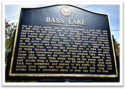 Bass Lake Park sign