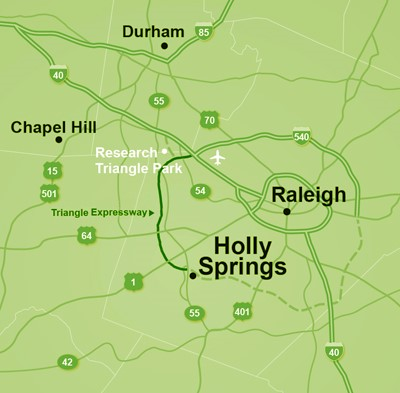 Holly Springs Nc Map Location | Holly Springs, NC   Official Website