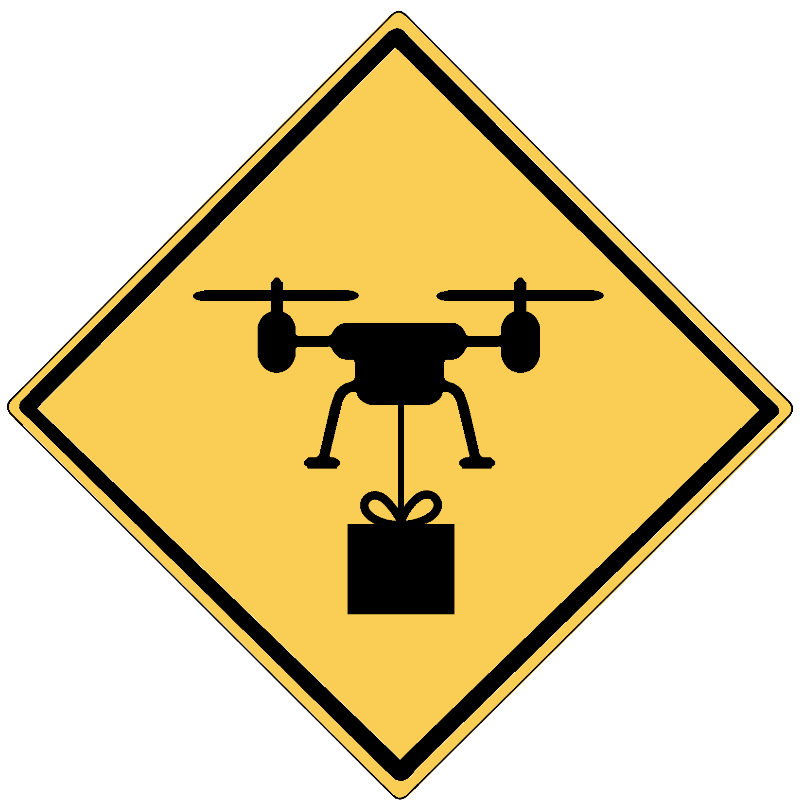 NCDOT drone sign