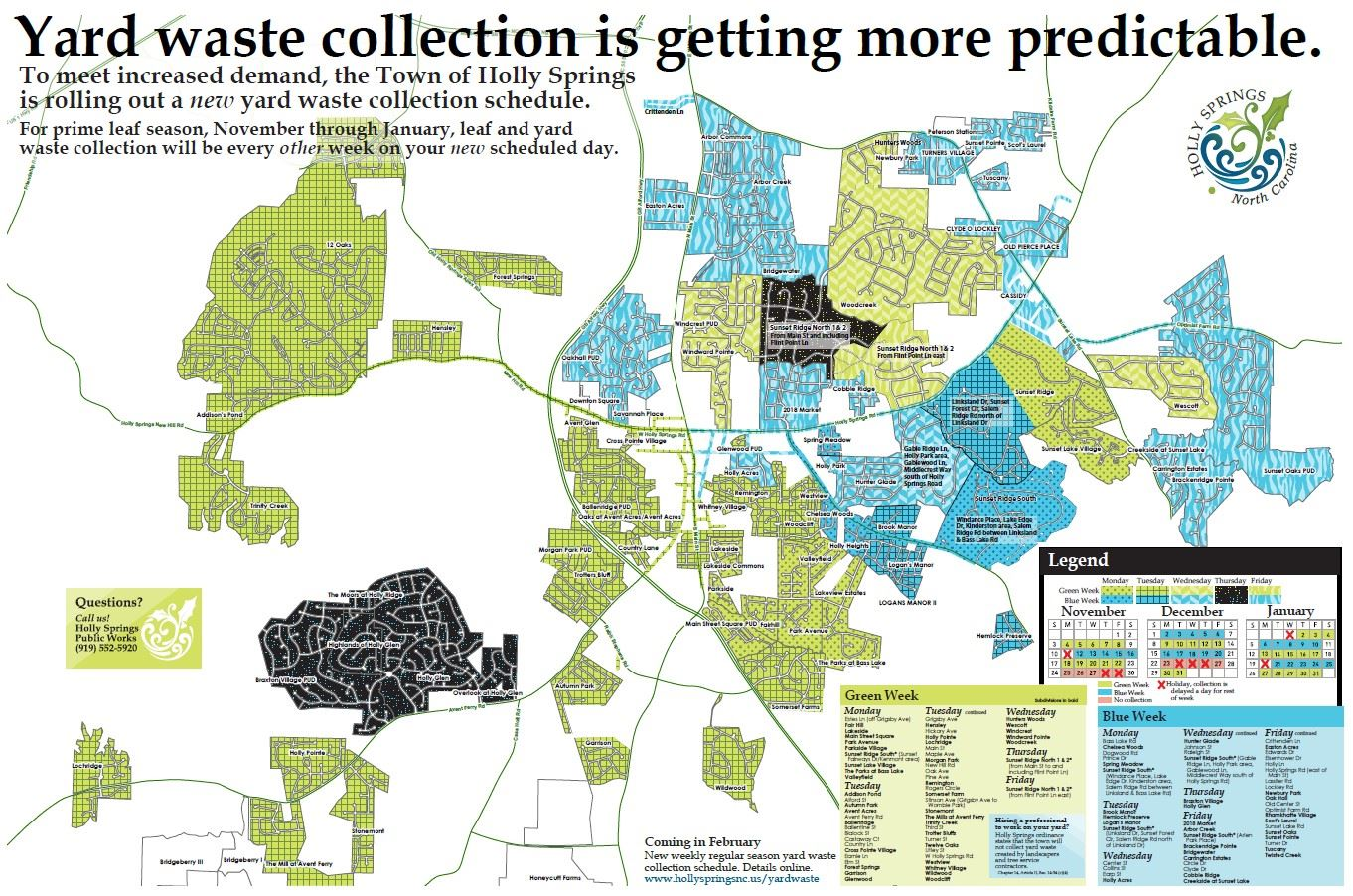 Town Yard Waste Map
