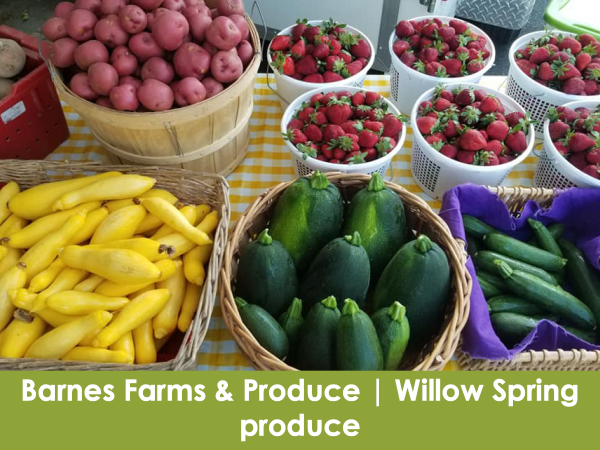 Barnes Farms & Produce, Willow Spring, produce