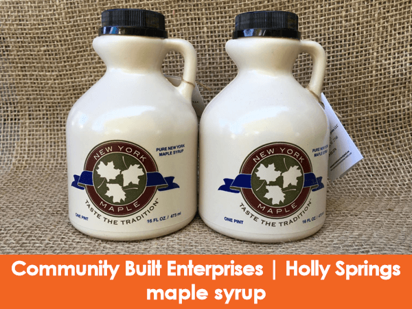 Community Built Enterprises, Holly Springs, maple syrup