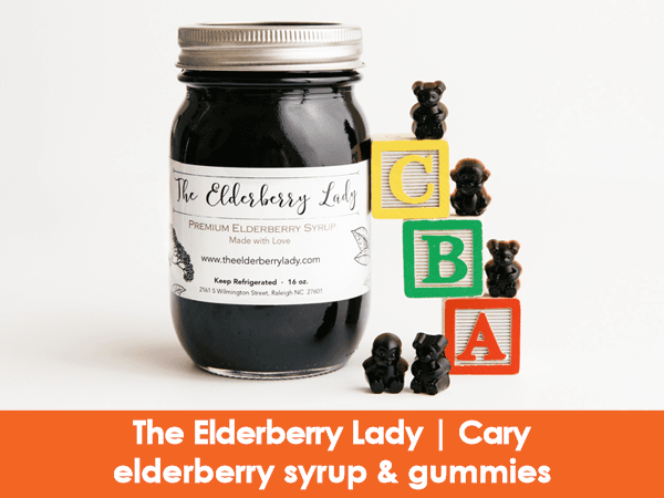 The Elderberry Lady, Cary, elderberry syrups and gummies