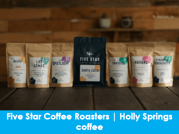 Five Star Coffee Roasters, Holly Springs, coffee