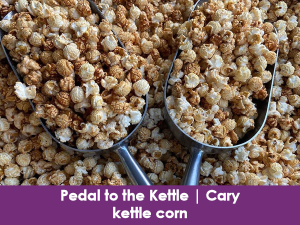 Pedal to the Kettle, Cary, kettle corn