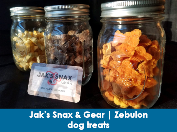 Jak's Snax & Gear, Zebulon, dog treats