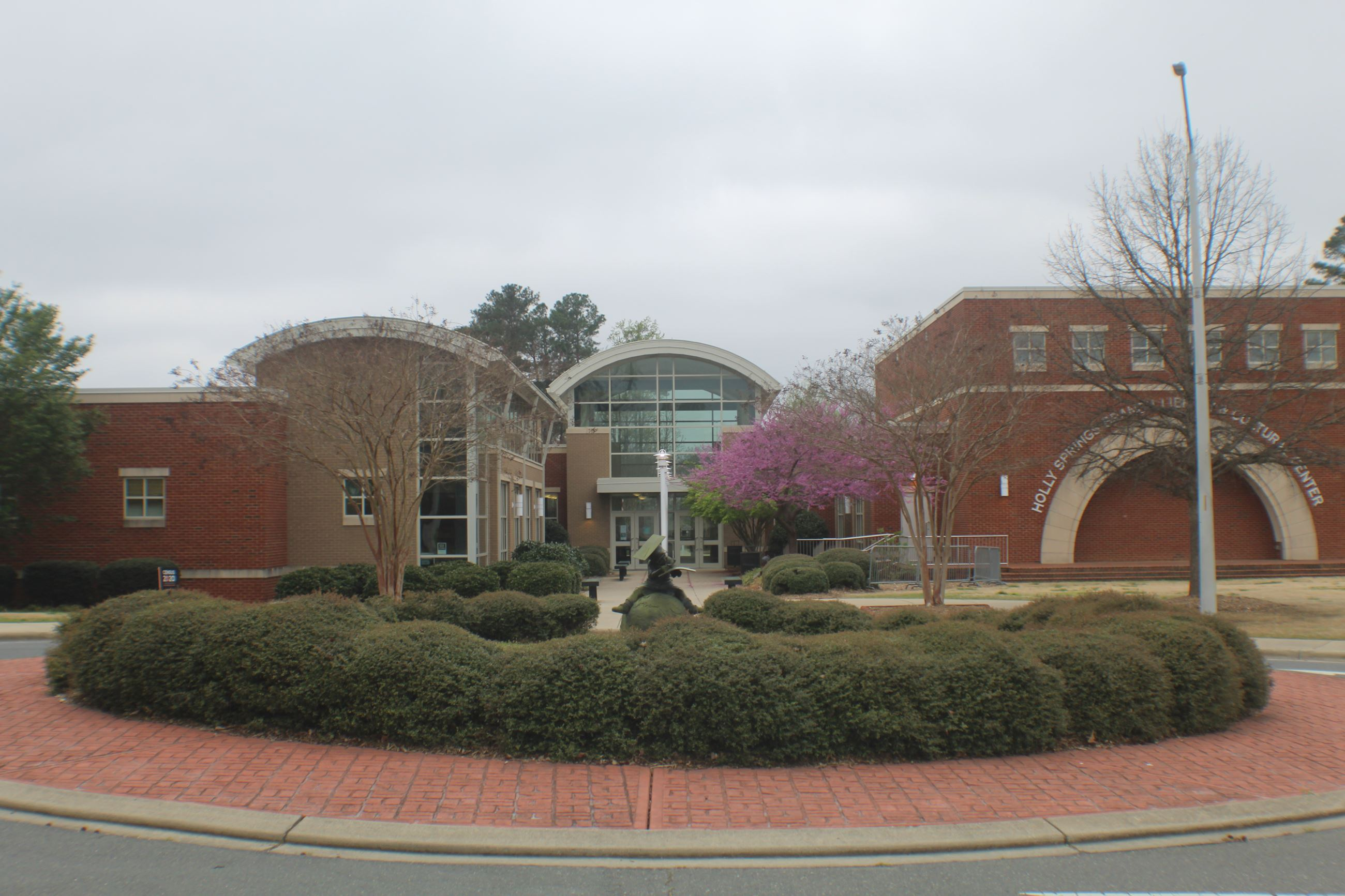 Rear entrance of the Holly Springs Cultural Center