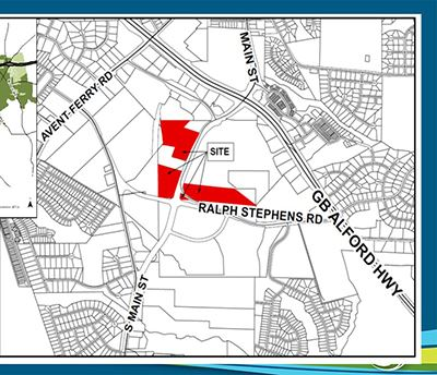Map of Village Gate development tracts