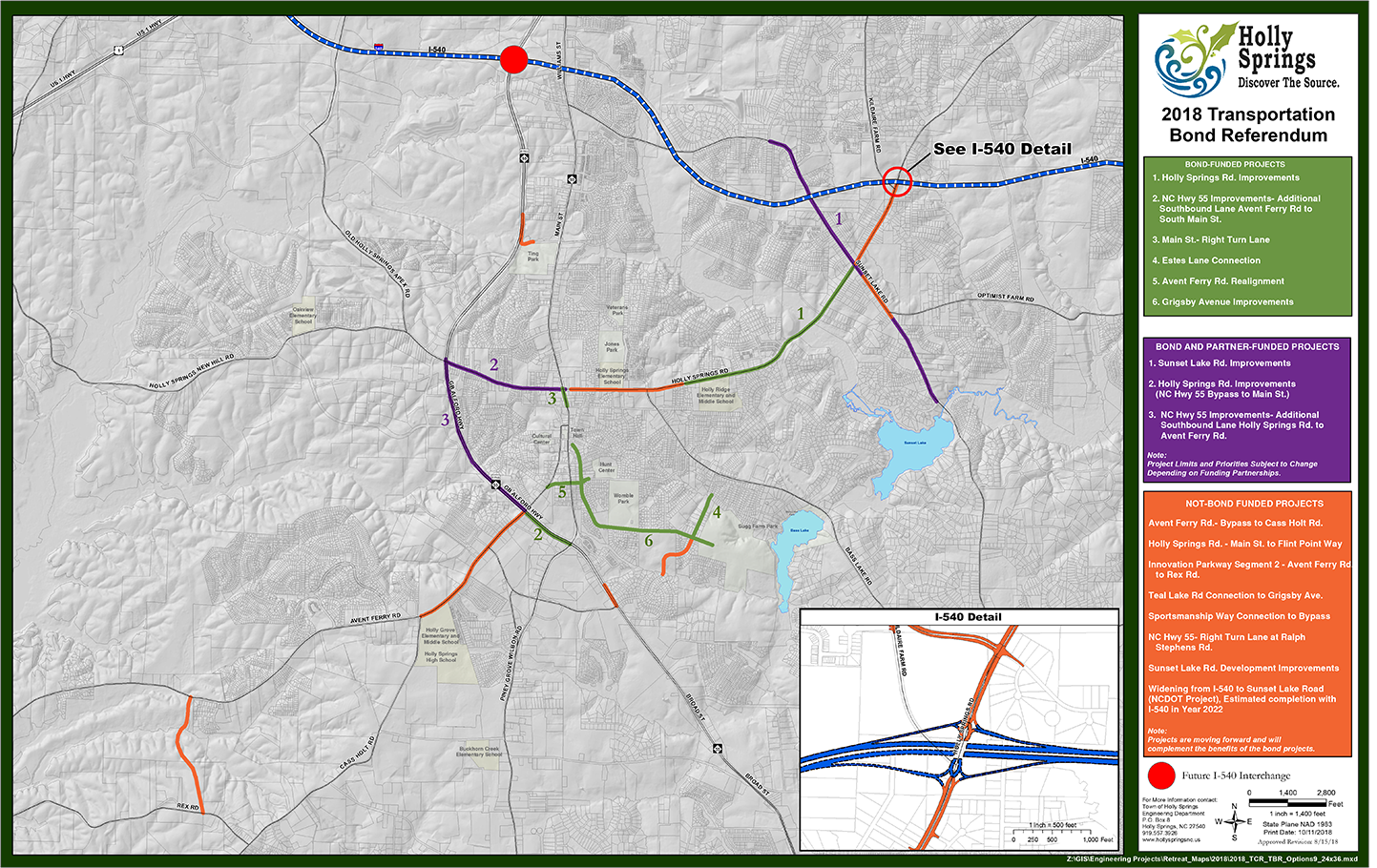 Transportation Projects Map Opens in new window