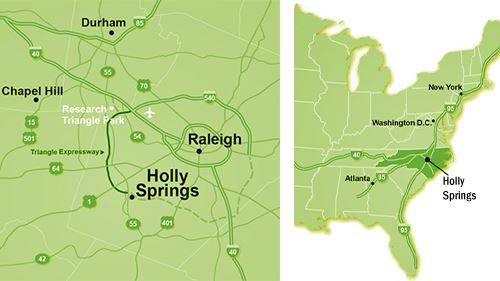 Holly Springs map location