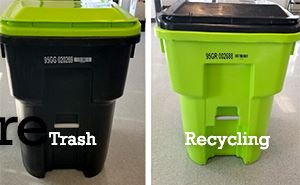 Trash and recycling carts