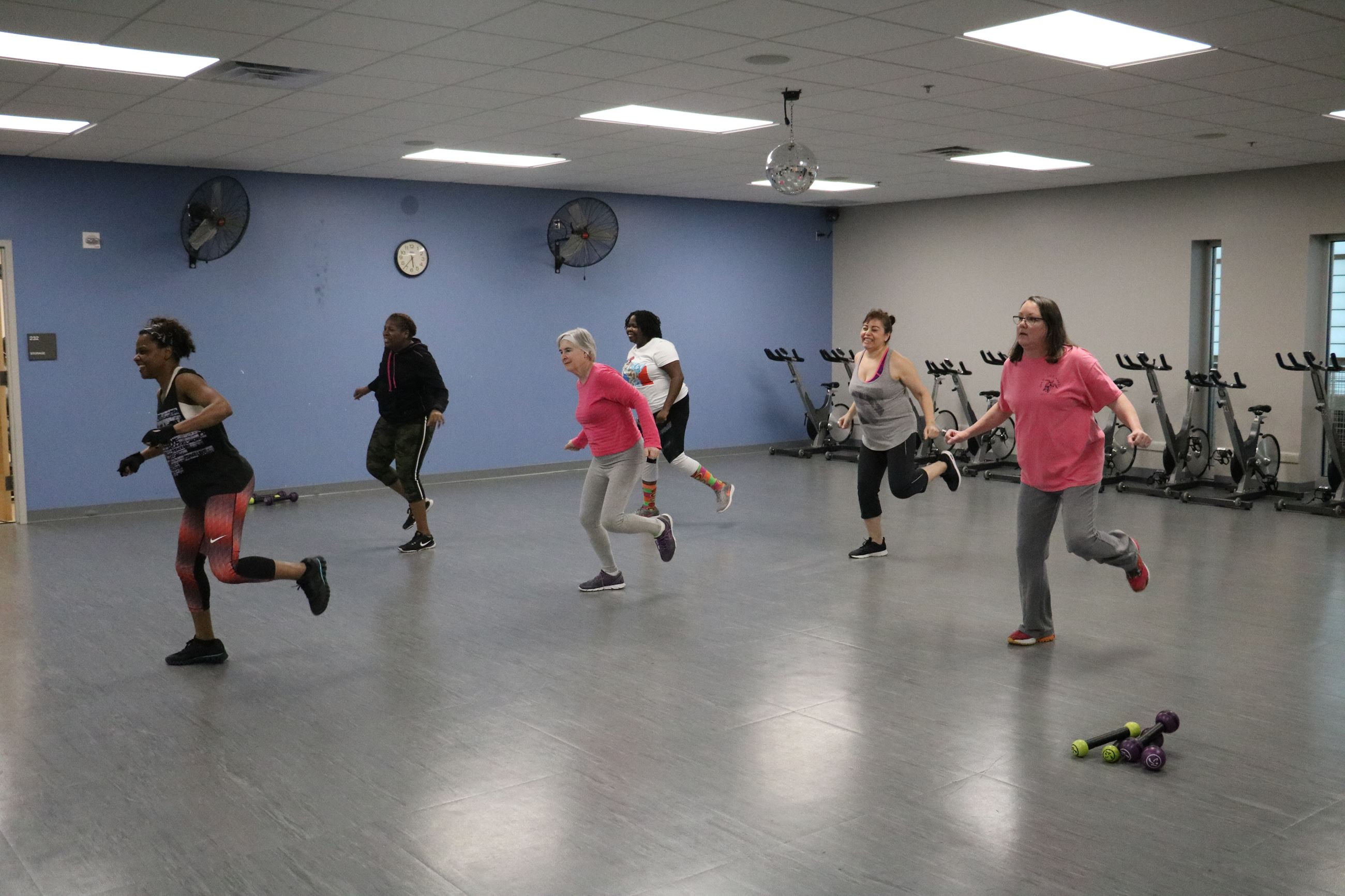 Zumba class at the Hunt Fitness Center