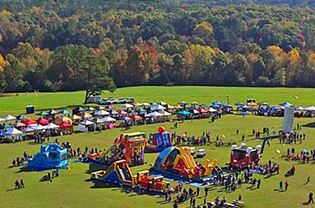 HollyFest at Sugg Farm as seen from above