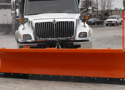 truck with snow plow